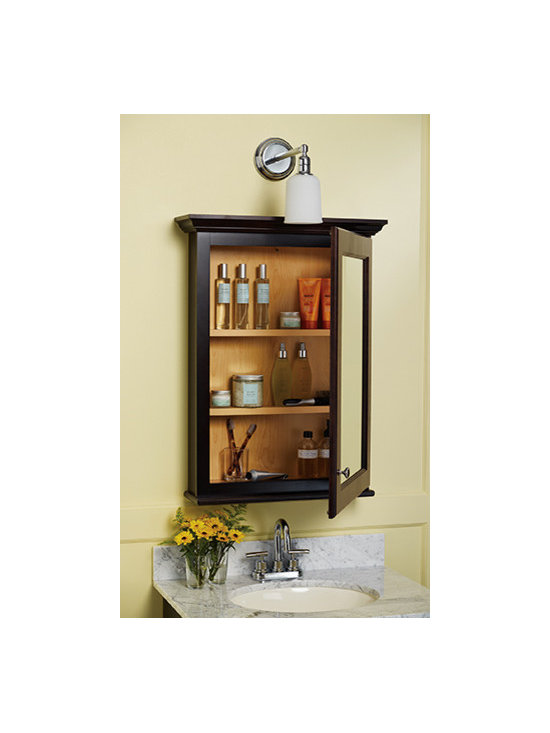 Decorative Mirror Wall Cabinet - Vanity mirror/ cabinet with two adjustable shelves keeps your daily use items close at hand.