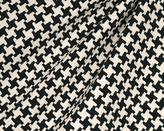 Great Scott! : Black - Black & white knit houndstooth fabric.
