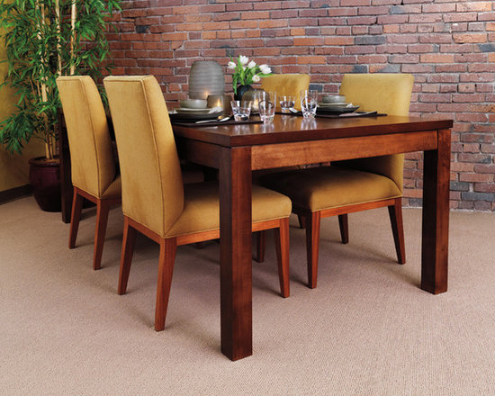 ZOE DINING TABLE - Our Zoe dining table is a close cousin to the original Parsons table, famed for its crisp modern lines, bold structure, and dimensional congruence between legs and table top. This table is well suited for any transitional or contemporary space.