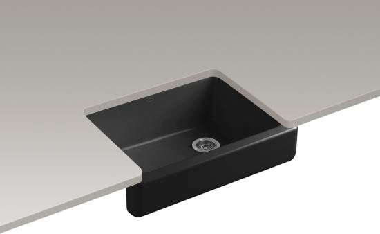 7 Apron Front Sink : KOHLER K-6486-7 Whitehaven Self-Trimming apron front single-basin sink ...