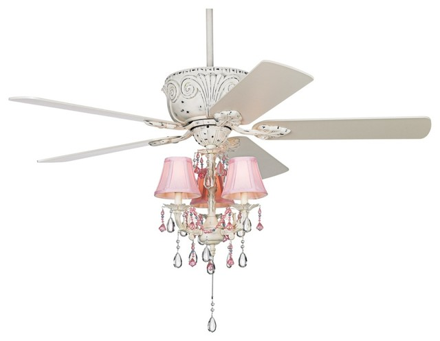 Casa Deville Pretty in Pink Pull Chain Ceiling Fan - Contemporary - Ceiling Fans - by Lamps Plus