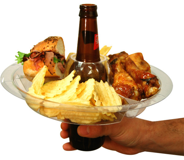 The Go Plate, Reusable Food And Beverage Holder eclectic serveware