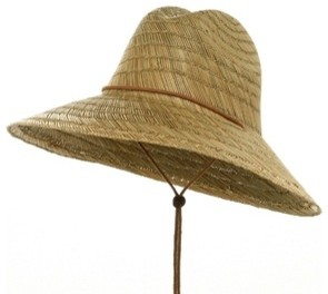 Safe Guard Straw Hat, Natural contemporary gardening tools
