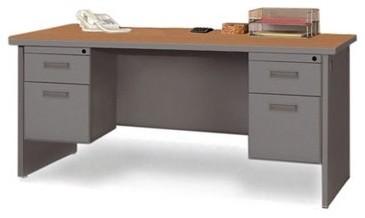 Pronto Contemporary Double Pedestal Credenza modern-home-office-accessories