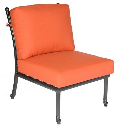 Meadow Decor Kingston Armless Chair contemporary-outdoor-lounge-chairs