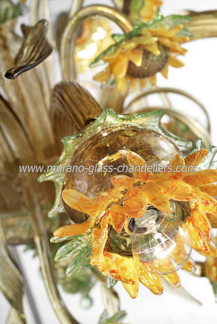 Sunflowers Murano glass chandeliers traditional-chandeliers