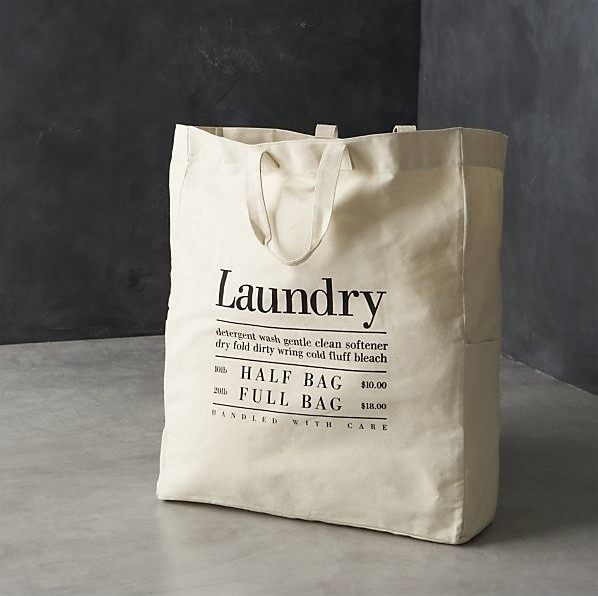 Canvas Laundry Bag contemporary-hampers