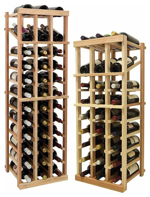 Vintner Series Wine Rack - Individual Bottle Wine Rack - 3 Columns with Display traditional-wine-racks