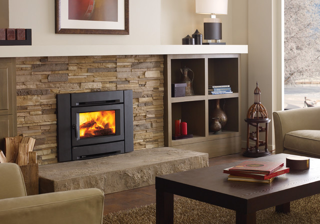Regency alterra ci1250 wood fireplace insert for Contemporary fireplace insert