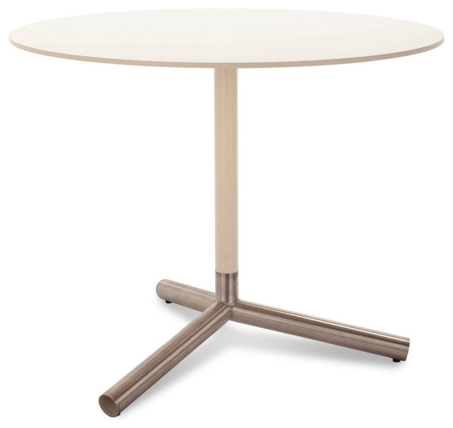 Blu Dot Sprout Cafe Table, Ivory modern-indoor-pub-and-bistro-tables