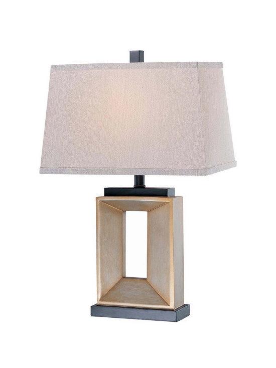 Lite Source 21492 Goldton Aged Silver/Black Table Lamp -