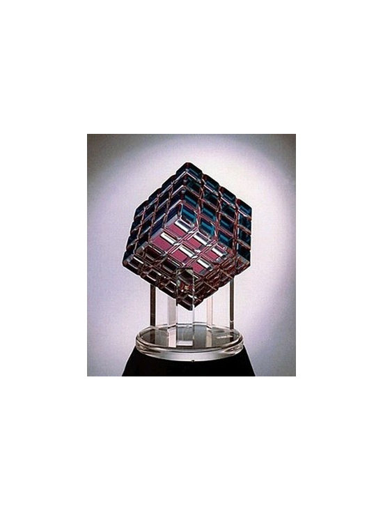 Cubic Rainbow Acrylic Sculpture Large - StudioLX