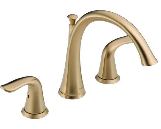 Delta Lahara® Roman Tub Trim - Delta Lahara® Roman Tub Trim, Champagne Bronze™ Finish, T2738