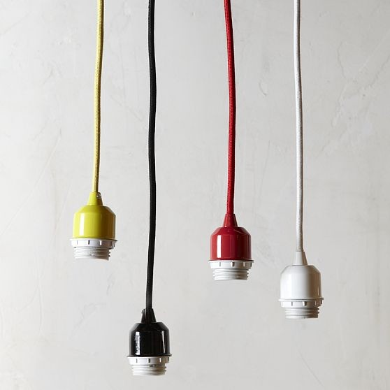 Pendant lighting cord : Pendant cord set modern lighting by west elm