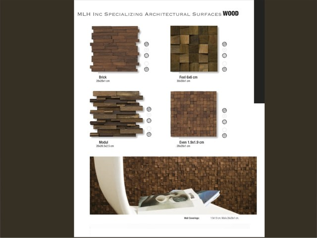Mosaic Wood Tile By MLH Tile modern-wall-and-floor-tile