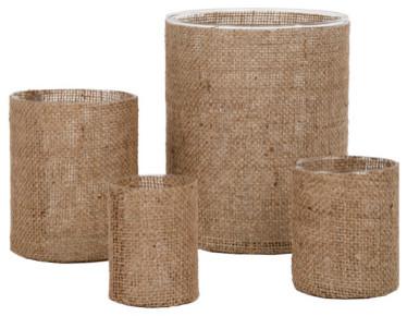 Burlap Vases eclectic-vases