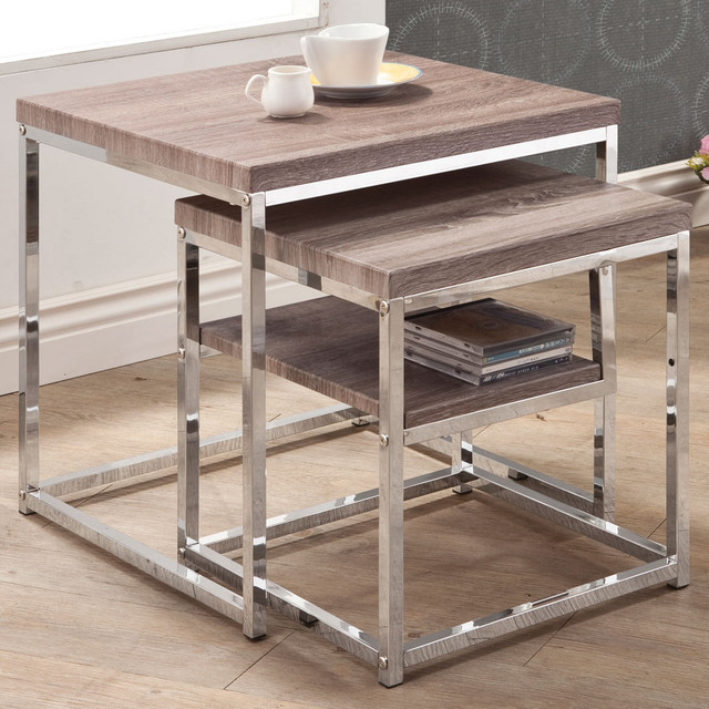 Nesting Table, Large - Set of 2 modern-side-tables-and-end-tables