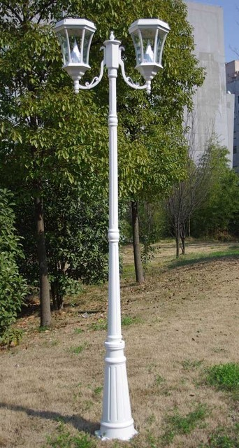 Solar Lamp Post Double Contemporary Post Lights Portland By Soothing