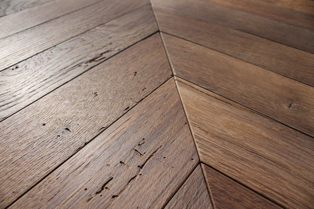 Wood Floor Creations Made Of Reclaimed Antique French Oak