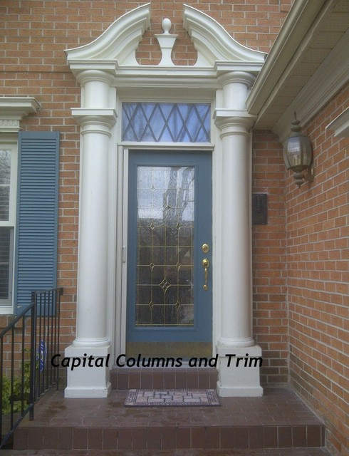 Custom Fiberglass Column Installation