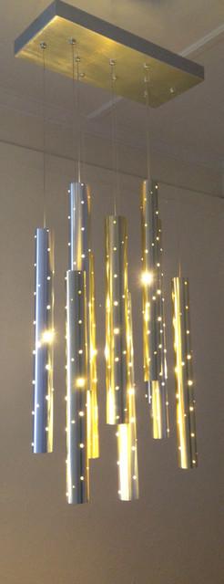 Heavy Rain. Large Light Drops. modern-chandeliers