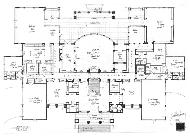 Castles mansions palaces chateaux villa manor concept for Traditional floor plans