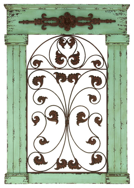 Rustic Style Wooden and Metal Wall Decor with Eye Catching Design traditional-artwork