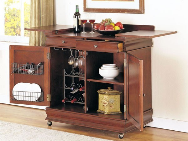 Acme Furniture Louis Philippe Bar Cabinet With Storage