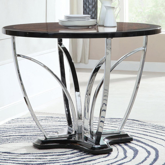 contemporary round counter height table contemporary dining tables