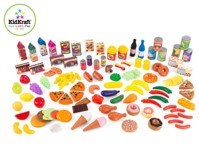 Kids Furniture Tasty Treats 125 Piece Play Food Set From