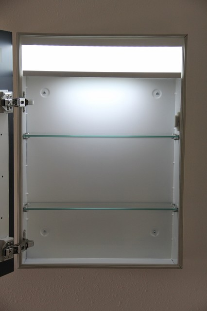 Led Illuminated Medicine Cabinet Contemporary Bathroom Cabinets And Shelves Orlando By