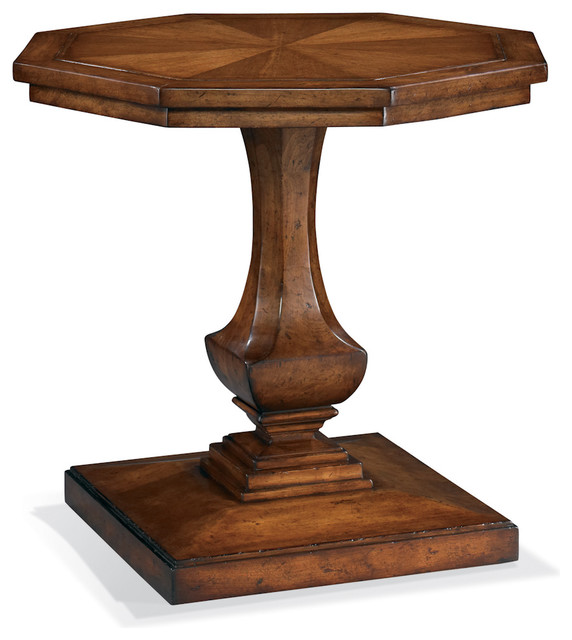 Octagon lamp table traditional side tables and accent