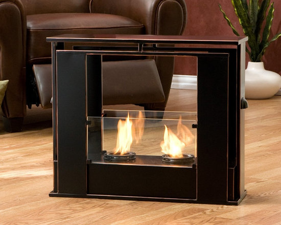 """Holly & Martin™ Walton Portable Indoor Outdoor Gel Fireplace - Dimensions: 24"""" W x 8.25"""" D x 20.25"""" H"""