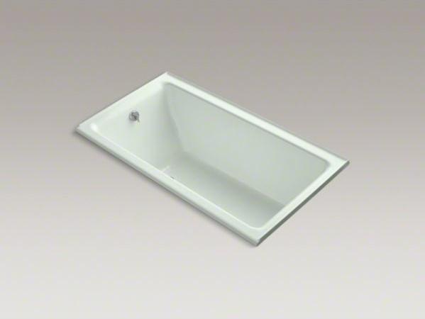 "KOHLER Kathryn(R) 66"" x 36"" alcove bath with tile flange and left-hand drain contemporary-bathtubs"