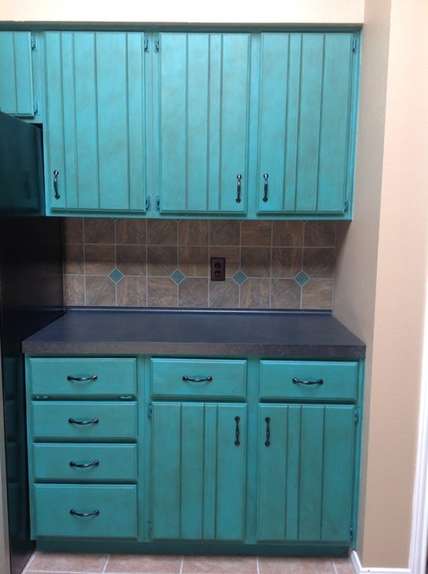 Chalk Paint Kitchen Makeover Traditional Kitchen Houston By