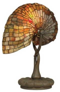 Dale Tiffany Red Nautilus Table Lamp modern-table-lamps