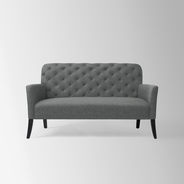 Elton Settee, Heathered Wool, Cinder contemporary-sofas