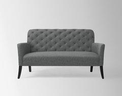 Elton Settee, Heathered Wool, Cinder contemporary-sofas