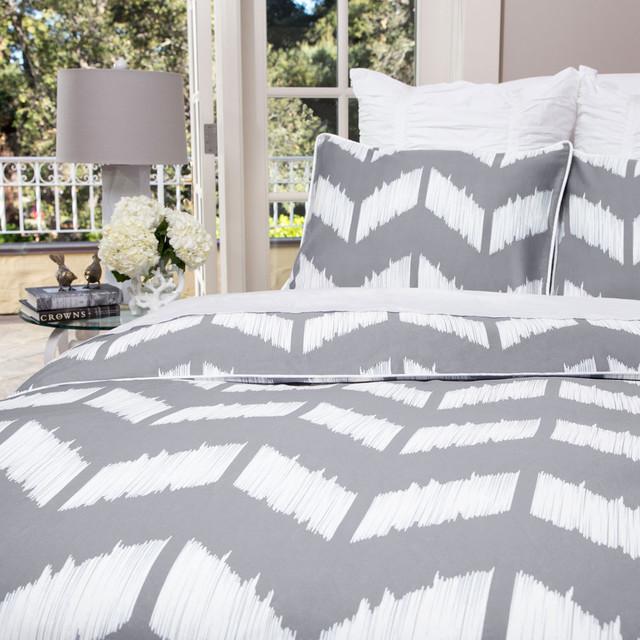 The Addison Gray Duvet Set contemporary-duvet-covers-and-duvet-sets