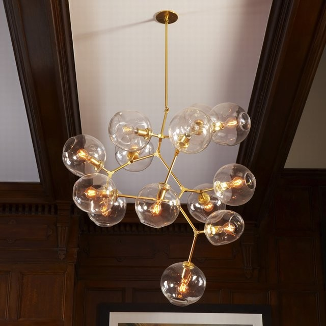 Branching Bubble 13 Globe by Lindsey Adelman contemporary-pendant-lighting