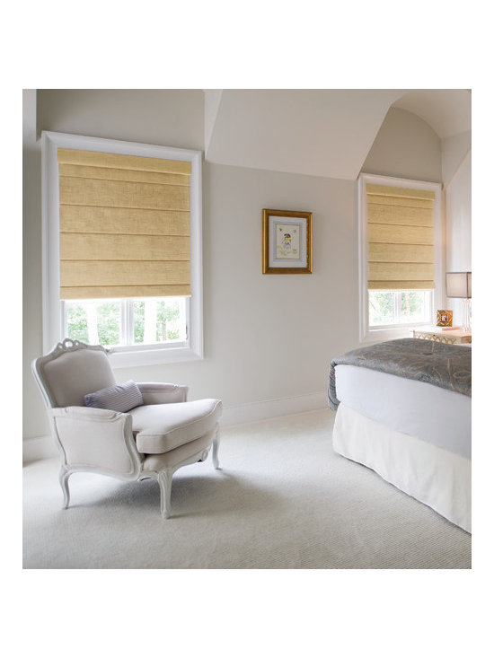 Levolor - Levolor Roman Shades: Linen & Dupioni (Room Darkening) - Perfect for bedrooms, media rooms and other places privacy and light control are desired, Levolor roman shades in room darkening fabrics are the perfect solution for your functional and decorating needs.  Choose between the room darkening versions of the Levolor Dupioni faux silk roman shade fabric collection or the Linen Collection, which features the casual sophistication of a woven linen.