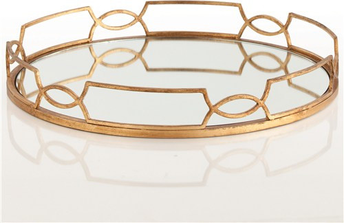Arteriors Cinchwaist Gold Tray modern storage and organization