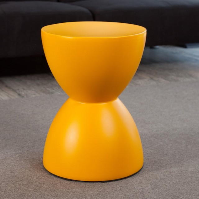 Calie Hourglass Table Stool Yellow Modern Side