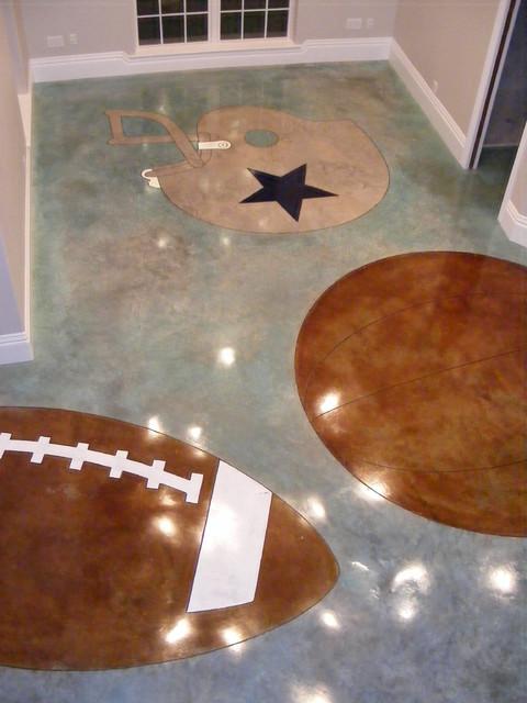 Interior concrete floor ideas contemporary dallas by plano concrete flooring - Concrete floor design ideas ...
