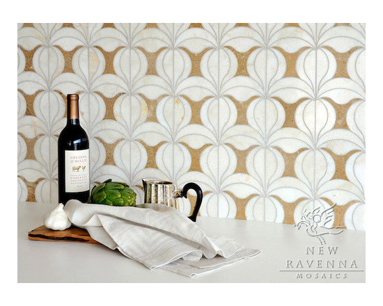Stone Mosaic - Calla  mosaic is  inspired by the patterns and textures  of the  Mediterranean and Spanish Colonial architecture and interiors.