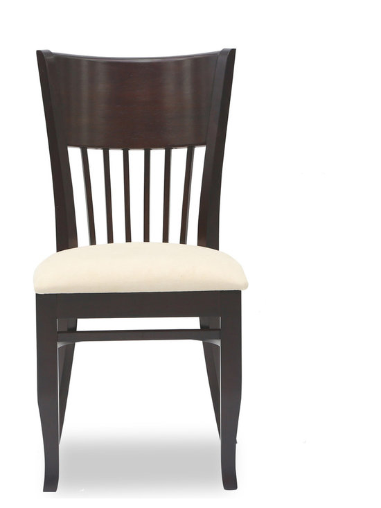 Bryght - Vera Sand Fabric Upholstered Light Cappuccino Dining Chair - The Vera dining chair showcases a timeless and classic vintage design. Simple yet graceful, the Vera dining chair is well suited for all occasions, with its smooth bentwood back with wooden vertical slats and a cozy padded seat in microfiber.