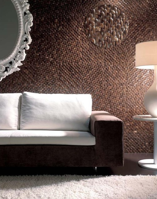 Coco Tisu - Dune - natural coconut shell tile tropical headboards