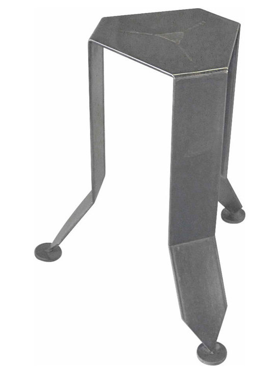 Flower Stand - This foliage inspired stand mixes bronze and steel in a Art deco geometric fashion. An ideal showcase for large-scale antique ceramics, artwork and glassware finished in a antic black traditional finish.