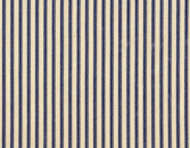 """30"""" Tailored Tiers, Lined, Ticking Stripe Indigo Blue traditional-curtains"""