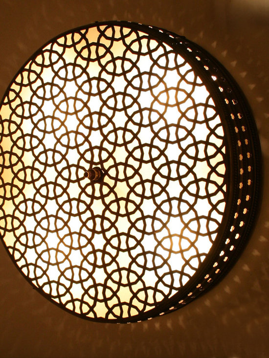Cylinder Big Ottoman Style Brass Wall Lamp - Cylinder Ottoman Laser Cut Brass Wall (Ceiling) Lamp